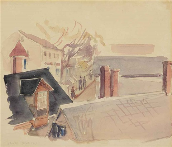 rooftops gloucester by stuart davis