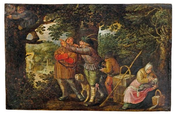 der nesträuber allegorie auf den diebstahl by david vinckboons