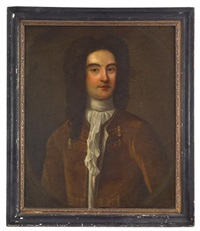 portrait of william byrd ii (1674-1774) of westover plantation, virginia by american school (18)