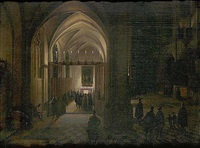 a church interior by hendrick van steenwyck the younger