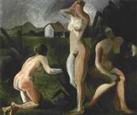 tres desnudos by tarsila do amaral
