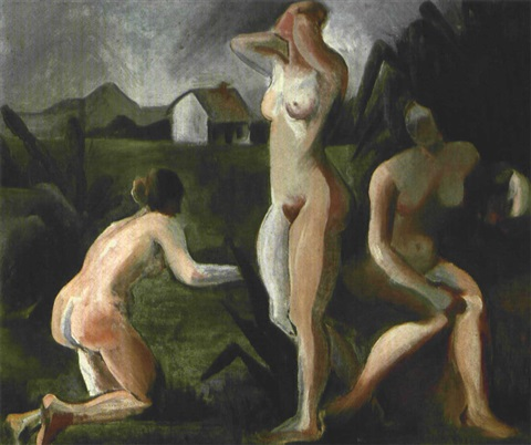 tres desnudos by tarsila do amaral