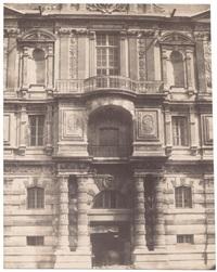 porte de la bibliotheque imperiale du louvre by claude-marie ferrier