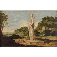 scène d'adoration devant une statue colossale de diane chasseresse by jacob symonsz pynas