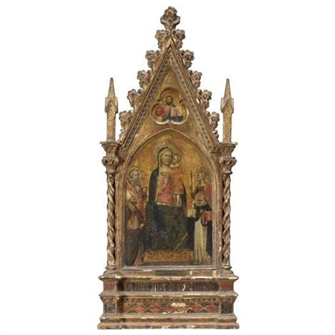 san madonna col bambino e santi cristo benedicente by maestro di niccolo