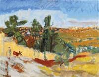 landscape of jerusalem by leon engelsberg