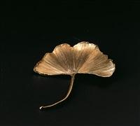 ginkgo brooch by claude lalanne