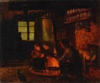bäuerliches kücheninterieur by rudolf bäumer