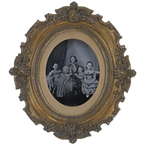 portrait of sophie reuter and her daughters by oskar h fielitz