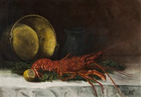 still-life with lobster by a.v.