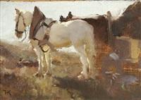 pferdefuhrwerk by hugo konig