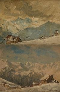 vues de l'alpe d'huez (2 works) by jean luypaert
