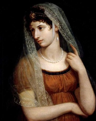 portrait of a lady elisa bonaparte by pietro benvenuti