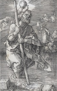 st christopher, facing to the right by albrecht dürer