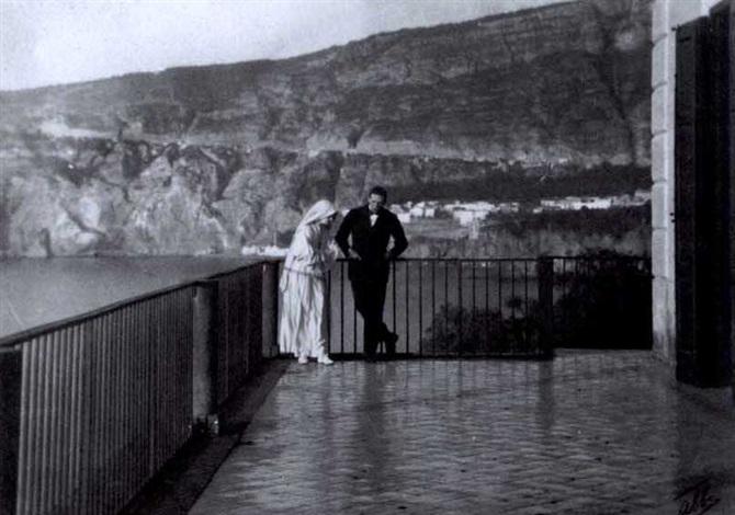 lillian gish und ronald colman während der filmaufnahmen zu the white sister by james abbe