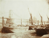 the hungerford bridge by william henry fox talbot