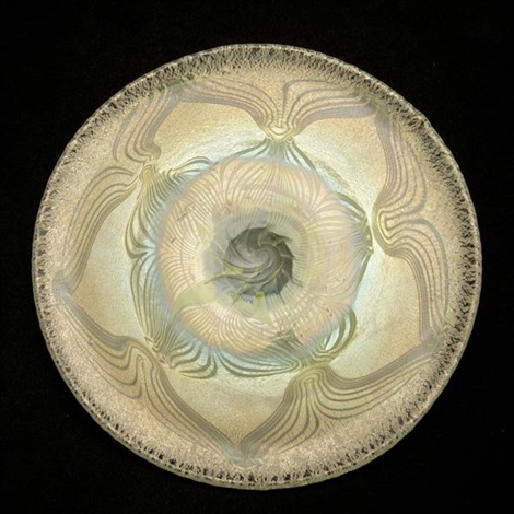 peacock plate by tiffany studios