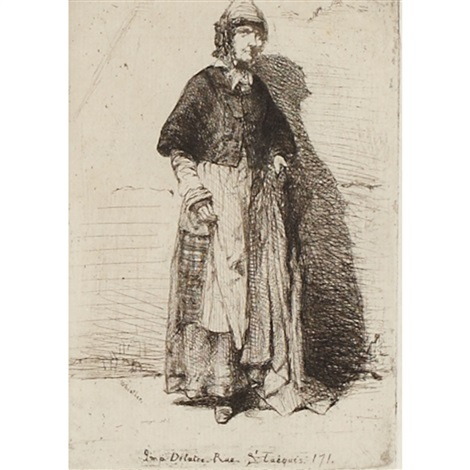 la mere gerard from 12 etchings from nature by james abbott mcneill whistler
