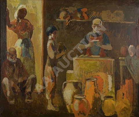 in the potters studio by eduard artsrunyan