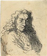 un homme aux cheveux longs by honoré daumier
