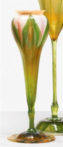 floriform vase by tiffany studios
