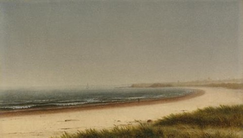 beach scene newport by james augustus suydam