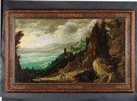 paysage animé de personnages by joos de momper the younger
