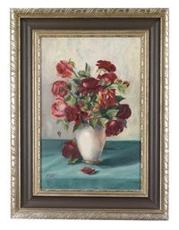 rosen in vase by camilla göbl-wahl