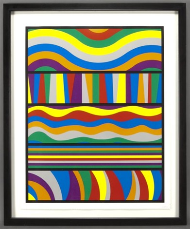 untitled waves and lines by sol lewitt