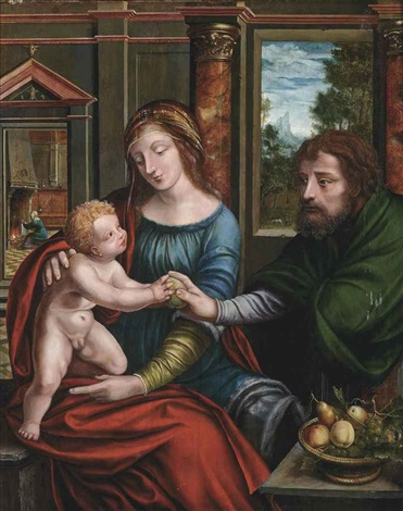 the holy family by jan matsys massys