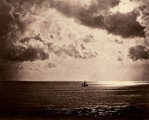 brick normandie dit brick au clair de lune ou brig on the water by gustave le gray