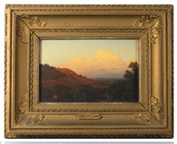 landscape with distant mountains by john william casilear
