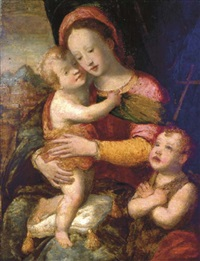 the madonna and child with infant saint john by francesco del brina