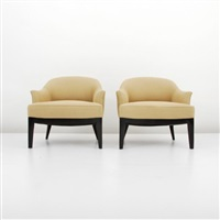 continental club chairs (pair) by p. smith & co.