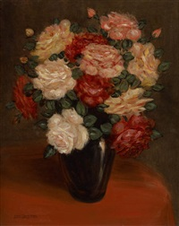 vase fleuri by louis goegebeur