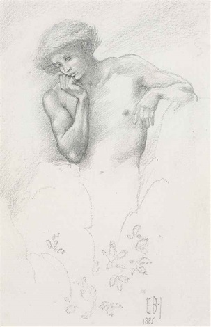 study of a hill fairy for arthur in avalon by edward burne jones