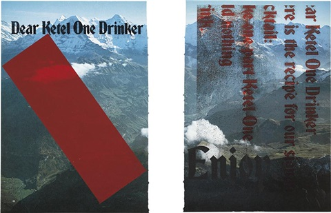 untitled in 2 parts by kelley walker and wade guyton