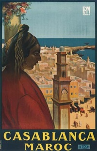 casablanca/maroc by posters: tourism