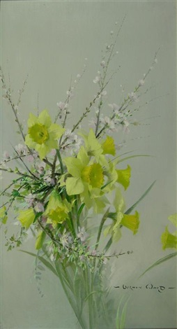 still life of spring flowers by vernon ward