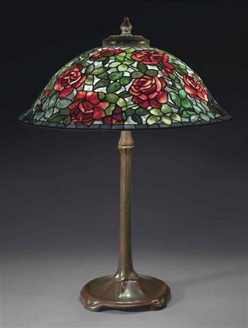 rose table lamp by tiffany studios