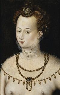 portrait de jeune femme dite allégorie de la beauté by french school-fontainebleau (16)