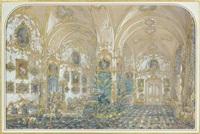 l'intérieur du salon aux amours du palais d'hiver à st. petersbourg by andrej stackenschneider
