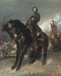 l'arrivée du général prim devant madrid - a study by henri regnault