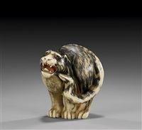 tiger netsuke by otomon