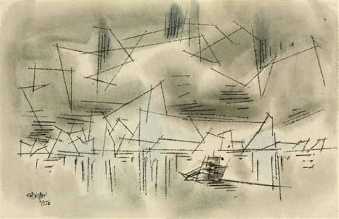 coast of illusions by lyonel feininger