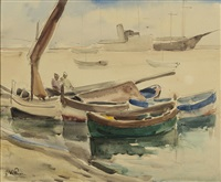 port de pêche by jacques villon