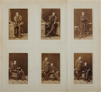 johann nepomuk nestroy vienna, 14th of march, 1861 (set of 6) by ludwig angerer
