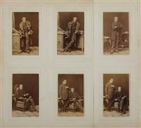 johann nepomuk nestroy vienna, 14th of march, 1861 (set of 6) by ludwig angerer