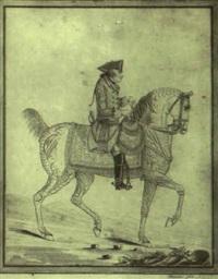 portrait de fréderic ii roi de prusse, à cheval by auvrest