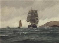 seilskute, skoyte og dampskip by zackarais martin aagaard